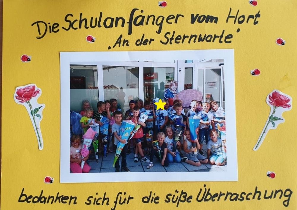 leckere Überraschung  grundschule an der sternwarte wurzen